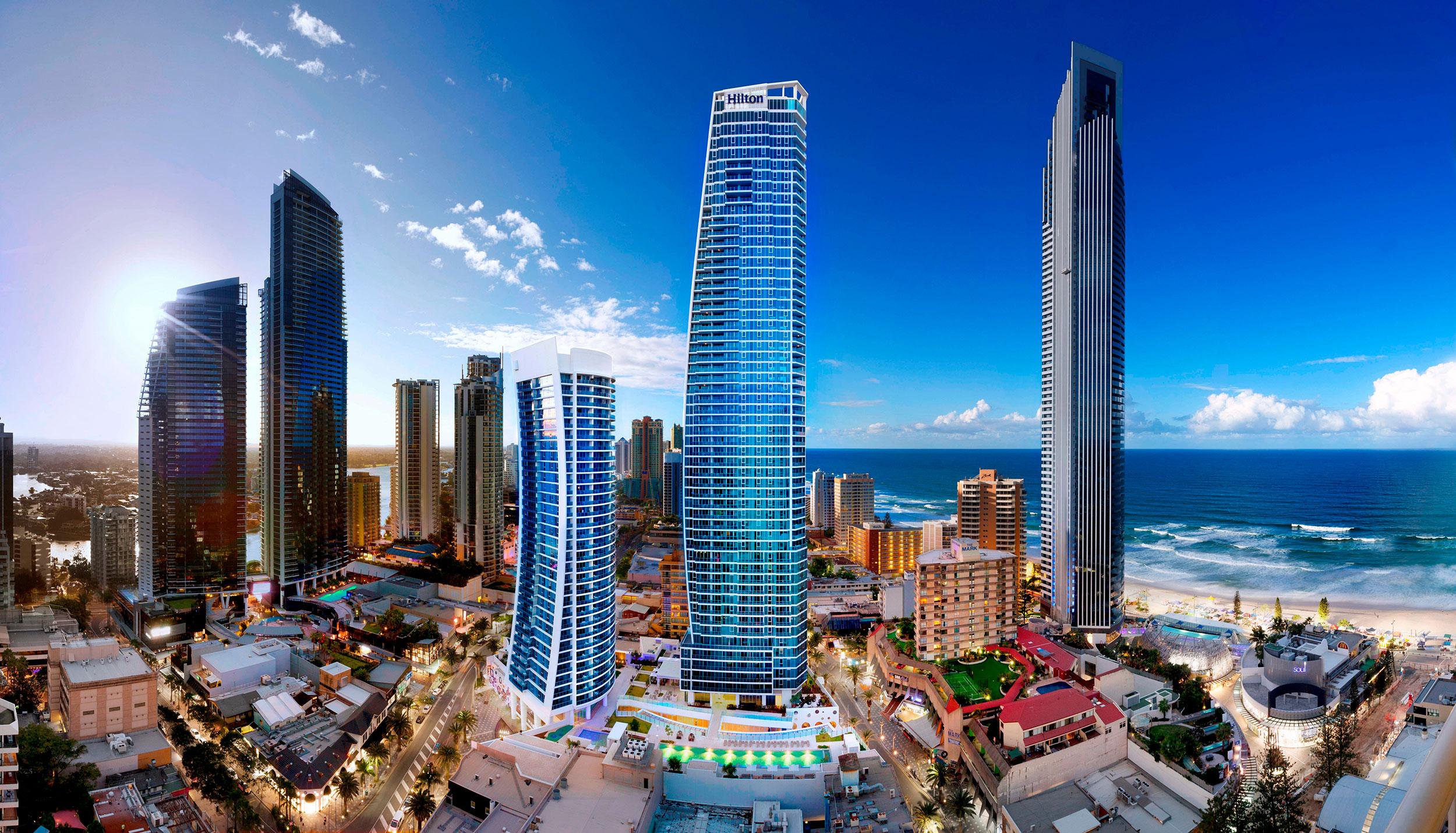 Hilton holiday rentals Gold Coast Australia