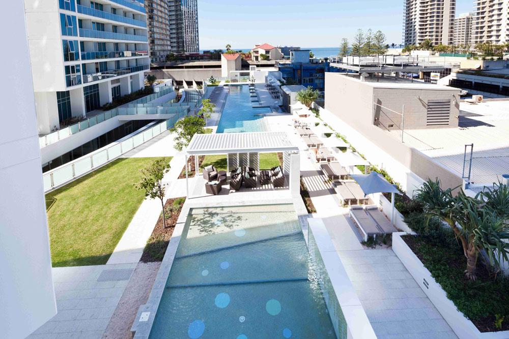 Main pool at Gold Coast Rental holiday apartments