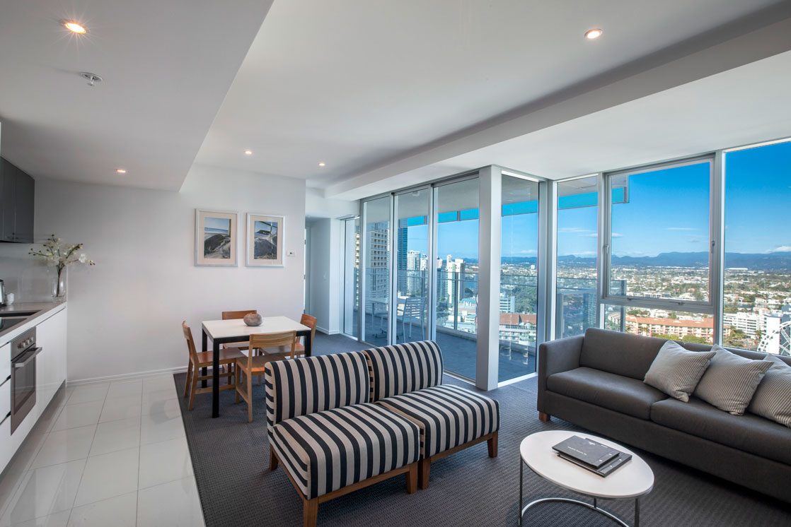 One Bedroom city view holiday apartment Gold Coast