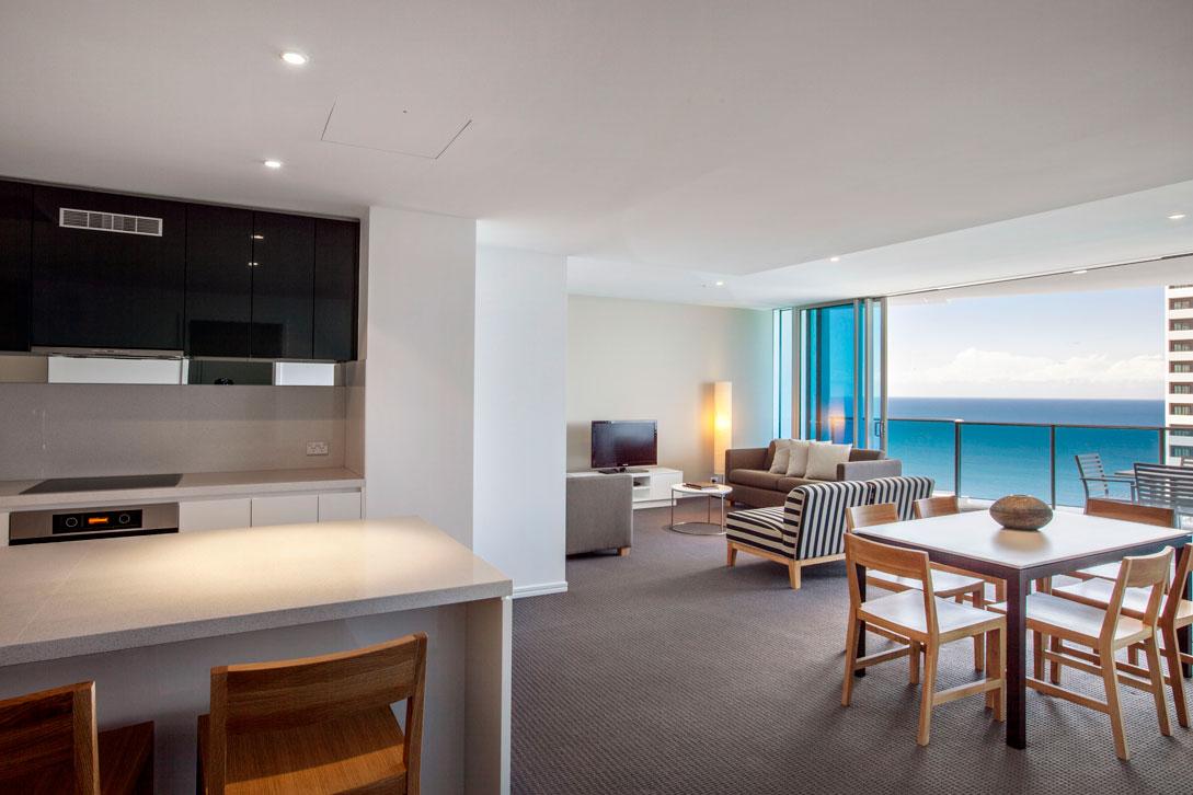 Spacious contemporary open plan apartment