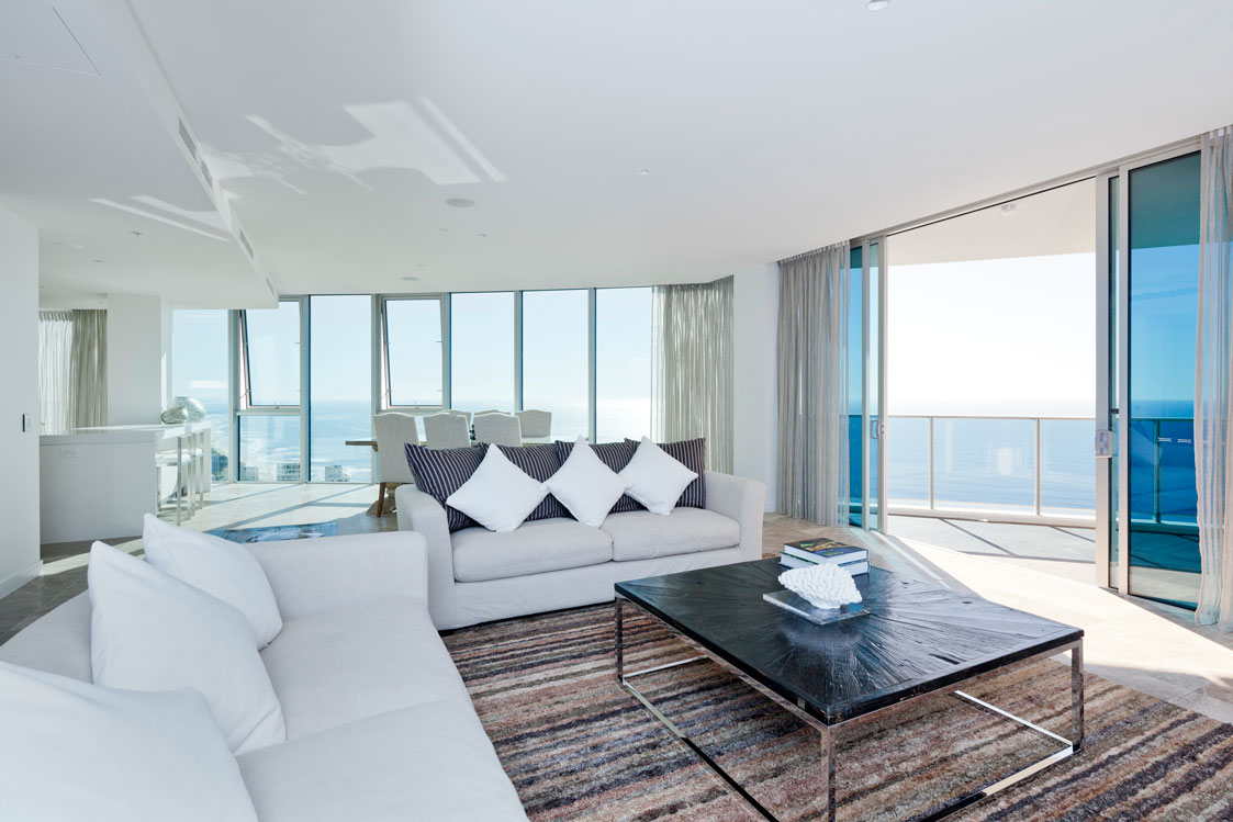 Pacific Ocean Views from the sub penthouse living room