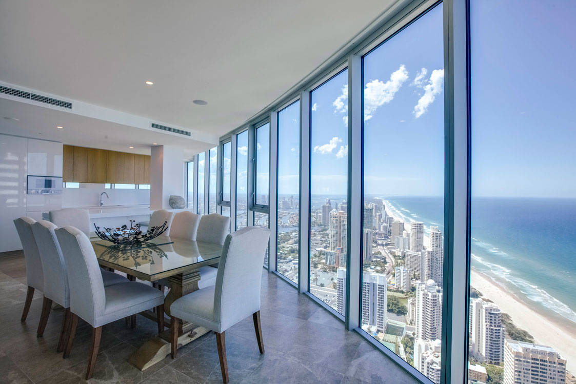 Gold Coast and Ocean Views from the spectacular dining room